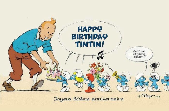 Joyeux Anniversaire A Tintin Jeune Premier De 90 Ans Culture